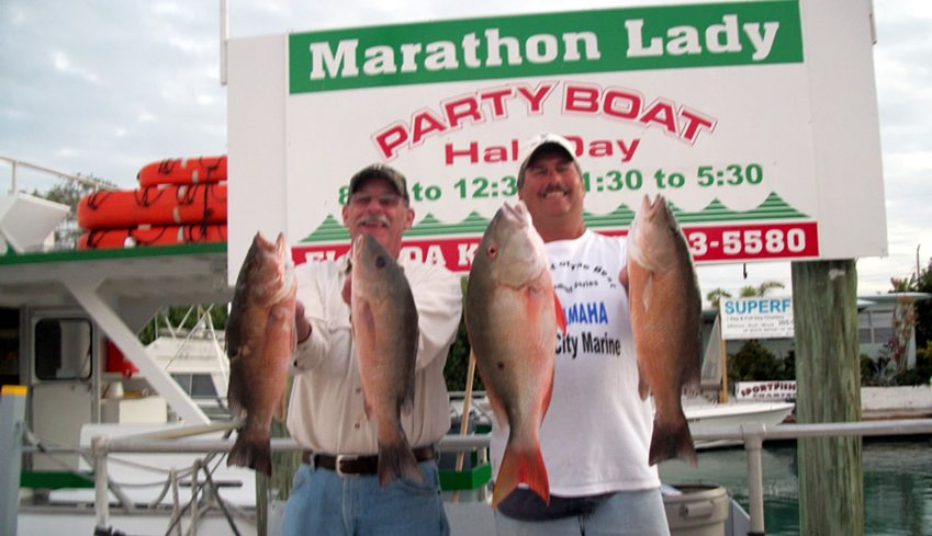 Florida Keys Fishing Aboard The Marathon Lady Party Boat