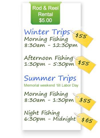 Marathon Lady Fishing Rates